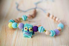 Organic Teething necklace Teething toy Nursing by KangaRusha