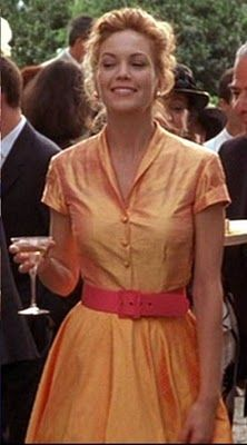 Sewing Retro Patterns Pintucks: Under Tuscan Sun: Sewing Retro Style Dresses. I NEED this orange silk dress. Ideas here for patterns to re-create :) 90s Fashion, Retro Fashion, Fashion Dresses, Vintage Fashion, Fashion Trends, Fashion Women, Under The Tuscan Sun, Divas, Eleanor