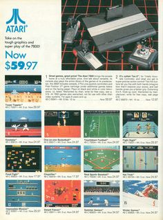 The Atari 7800 game console had nice 8-bit graphics, but could not win from Sega, Nintendo and the 8-bit home computer revolution.