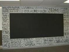 Youth room chalk board wall!