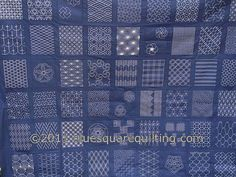Sashiko Quilt Top - detail