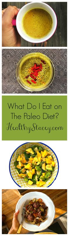 An example of what you eat on the Paleo Diet in one day - from morning bone broth to meatball dinner with paleo pasta!