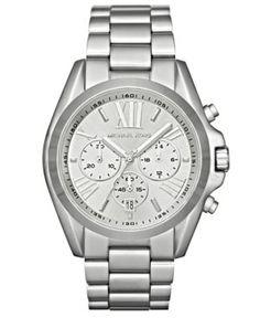 Michael Kors Watch, Women's Chronograph Bradshaw Stainless Steel Bracelet 43mm