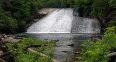 Rainbow Falls & Turtleback Falls, North Carolina Waterfall
