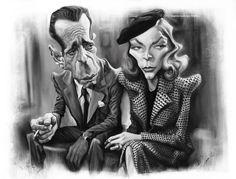Humphrey Bogart and Lauren Bacall by lorenzowalkes.deviantart.com on @deviantART
