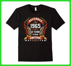 Mens November 1965 52th Birthday 52 Years Old Gift T-Shirt 2XL Black - Birthday shirts (*Amazon Partner-Link)