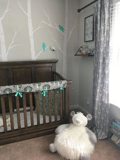 "I wanted to share my son's nursery before he out grew it for a ""big boy"" room. I sewed a lot of the pieces and had so much fun choosing the nursery decor. #nurserydecor #handmadenurserydecor"