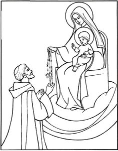saint dominic catholic coloring page feast day is august 8