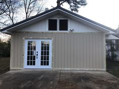 Detached garage conversion project: before & after inspiration