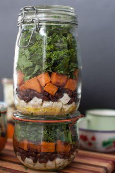 Sweet Potato & Kale Salad with Black Beans