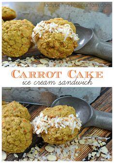 Carrot Cake Ice Cream Sandwich
