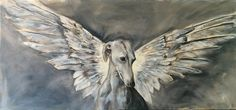 paintings of animals Dachshund, Whippet, Animal Paintings, Oil On Canvas, Owl, Wings, Bird, Artist, Club