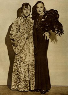 Anna May Wong and Marlene Dietrich in a publicity still for Shanghai Express.