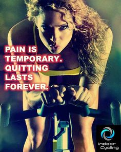 Pain is temporary indoor cycling studio in Israel