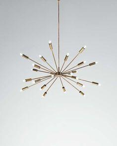 "GINO SARFATTI, ""Sputnik"" ceiling light, 1950s"