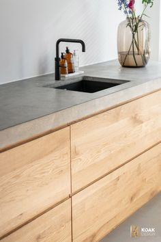 Kitchen Room Design, Kitchen Dinning, Modern Kitchen Design, Interior Design Kitchen, New Kitchen, Kitchen Decor, Kitchen Ideas, Interior Modern, Concrete Kitchen