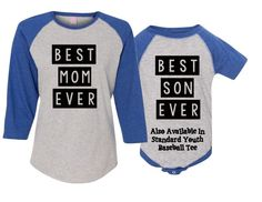 Best Mom ~ Best Son ~  Mother and Son ~ Matching Shirt Mommy and Me Outfit Mommy and Son  Shirts New Mom ~ Personalized Mom ~ Mother ~ Mama by CutFromTheHeart on Etsy