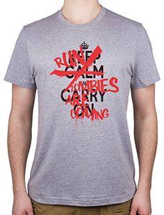 Keep Calm And Carry On. Run Zombies Are Coming.-Camiseta para hombre #camiseta #realidadaumentada #ideas #regalo