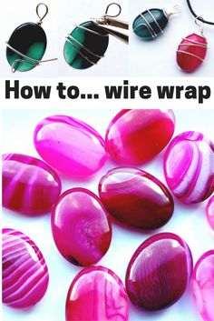 Learn how to make these wire wrapped agate pendants with this step by step jewellery making kit.