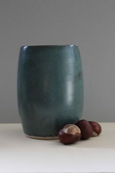 Vase blue verde von Keramik  vom Rhinkanal auf DaWanda.com