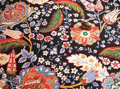0.5m Floral Versaille auf Baumwollgewebe