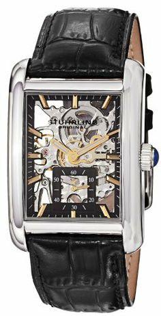 Stuhrling Original Men's 144C3.33151 Gatsby Plaza Mechanical Skeleton Black Watch Stuhrling Original. $445.00