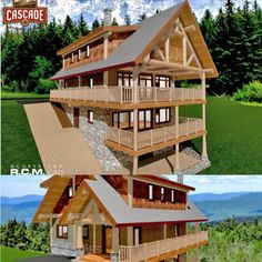 Introducing The Sunshine Valley floor plan 1763 Sq Ft (164 Sq. M). A stunning two level log home designed to sit atop a hillside in the beautiful Sunshine Valley, with wonderful exposure to the surrounding landscape! Another gorgeous design! 😍 #loghomebuilders #loghomes #loghomedesign #floorplans #design #westernredcedar #customloghomes #sunshinevalley #logcabinsofinstagram #loghomelove #logcabin #logcabindesign Log Home Builders, Log Home Floor Plans, Log Cabin Designs, Timber House, Western Red Cedar, Log Homes, Building Design, Custom Design, Sunshine