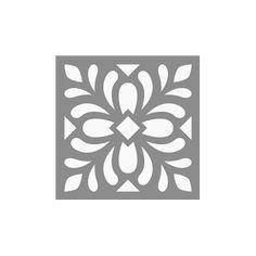 Pochoir multi usage carreau de ciment feuillage 15x15cm chez Artgate 3,40€ #carreaudeciment Stencil Decor, Stencil Painting, Stencil Designs, Fabric Painting, Metal Art, Wood Art, Motif Arabesque, Jaali Design, Cnc Cutting Design