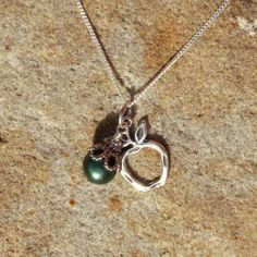 Apple for the Teacher Pearl Charm Necklace by BrownEyedGirlSB, $25.00