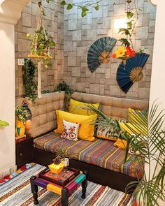 home decor eclectic UrbanClap Homes on - Indian Room Decor, Ethnic Home Decor, Home Room Design, Living Room Designs, Home Decor Furniture, Home Decor Bedroom, Bedroom Rustic, Living Room Decor, Cozy Apartment Decor