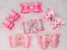 Val's Dog Bows Get All 6 x SM Pink N Fancy for Yorkie Maltese Shih Tzu Puppy | eBay