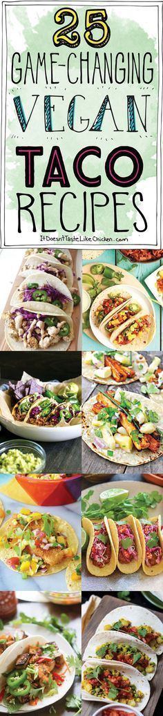 Extra Off Coupon So Cheap 25 Game-Changing Vegan Taco Recipes. Bring on Taco Tuesday! Everything from quick and easy crispy and chewy breakfast or dinner all dairy-free egg-free and vegetarian. Veggie Recipes, Mexican Food Recipes, Whole Food Recipes, Vegetarian Recipes, Cooking Recipes, Healthy Recipes, Vegetarian Breakfast, Quick Recipes, Breakfast Tacos