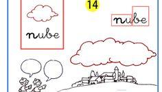 Completo método de lectoescritura paso a paso letra n de nube