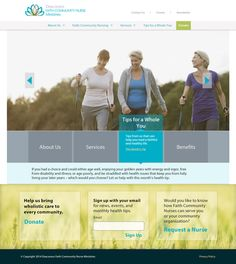 One of our favorite features on the Deaconess Faith Communities Nurse Ministries site is the custom rotator on the homepage. Each image corresponds with an interactive menu of blue boxes directly below. When activated, each box animates, revealing a header and unique information for each section. #Nonprofit #WebDesign #HealthandWellness