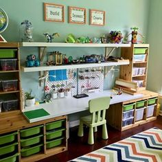 How to Create A Playroom that Fosters Creative Play and Invention Create a Makerspace playroom that will spark your child's creative play, keep them engaged for hours, and also keep all of those Legos organized!