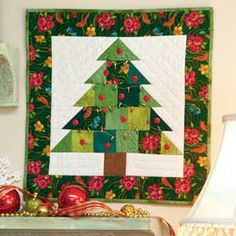 Tiny Tannenbaum: FREE Adorable Little Christmas Tree Quilt Pattern Designed by MELINDA HONN