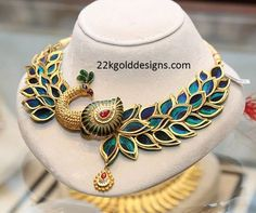 Indian Jewellery Designs: Joyalukkas Peacock Necklace