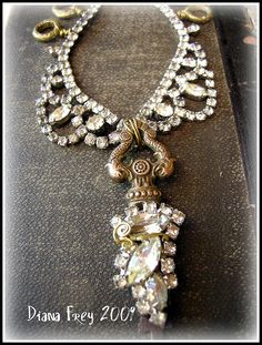 Antique Rhinestoned Key Choker by Diana Frey, via Flickr
