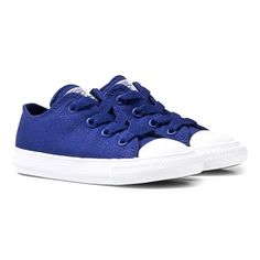 CONVERSE Blue Infant Chuck II Kids Ox Trainers $24 Add a pop of colour to his footwear with these blue Chuck II Ox Trainers from Converse. The classic silhouette features branding to the tongue and reverse with the iconic toe cap and rubber sole. Finished with interchangeable laces for versatility, team them with a printed tee and relaxed jeans.  - Outer: Textiles, Lining: Textiles and Other Materials, Sole: Other Materials  #Convers #Kids #Shoes #Blue