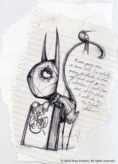"Doodle by Greg ""Craola"" Simkins Bird Drawings, Animal Drawings, Rabbit Drawing, Fairytale Art, Sketchbook Inspiration, Pop Surrealism, Artwork Design, Whimsical Art, Surreal Art"