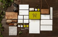Hawthorne & Wren branding identity by Kevin Cantrell Design Lettering, Typography Design, Logo Design, Identity Design, Brand Identity, Visual Identity, Collateral Design, Brand Packaging, Packaging Design