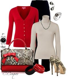 """""""Chic in Red"""" by ccroquer on Polyvore"""