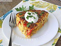 Baked Quinoa Chicken Frittata {Gluten Free}