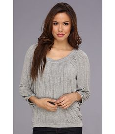 Free People Moss Solid Top Grey Heather - 6pm.com
