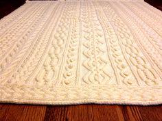 Knitting Pattern Twisty Celtic Aran Afghan by TigerNeedles on Etsy