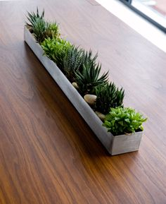Fruit Trough - you can reinvent this piece every month with new plants, fruits or seasonal decorations.