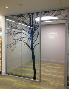 Burwood Library & Community Hub - Opened March 2014 - Study Room Vinyl Signage by Wizardry Imaging & Signs Medical Office Design, Office Interior Design, Office Interiors, Signage Design, Facade Design, Wall Panel Design, Aviation Decor, Smart Glass, Glass Office