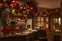 The Christmas decorations are all over the bar at The Duke in Tilford, Surrey
