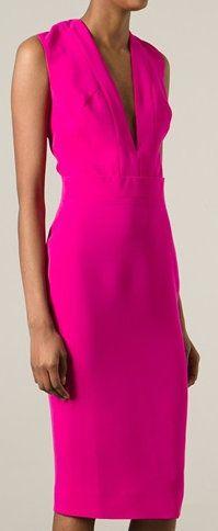 Victoria Beckham Plunge Neck Dress