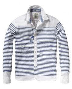 Long-sleeved sailor shirt: This sailor shirt with washed-off printed stripes is perfect for a day on the boat and looks hip when you are on shore. Go on the water in style. Sail away!